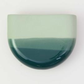 Dip wall vase | Half round | Green 062