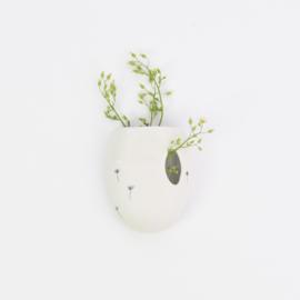 Wall flower vase | L | White
