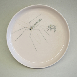Plate Insect | Breakfast | Pink
