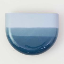 Dip wall vase | Half round | Blue 065