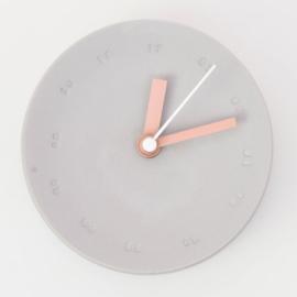 Clock - Small   Grey