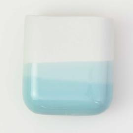 Dip wall vase | Short | White 057
