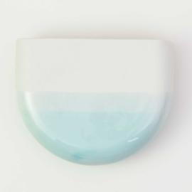 Dip wall vase | Half round | White 057