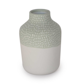 Clay vase | S | Green | Small stripe