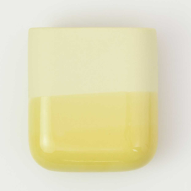 Dip wall vase | Short | Yellow 084