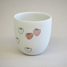 Cup food | Small | White | Strawberry