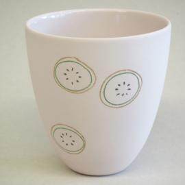 Cup food | Large | Pink | Kiwi