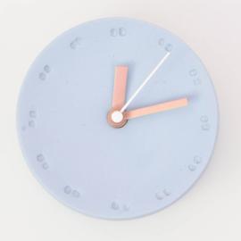 Clock - Small   Blue