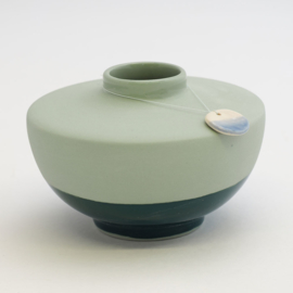 Dip vase | Wide | Green | 062