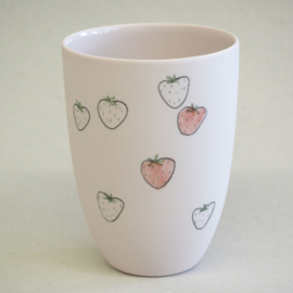 Cup food | Medium | Pink | Strawberry