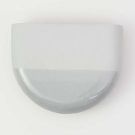 Dip wall vase | Half round | Mouse grey 090