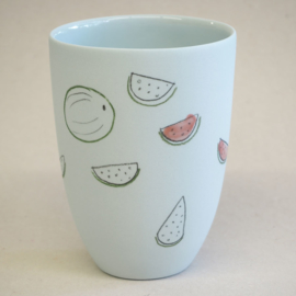 Cup food | Medium | Light blue | Watermelon