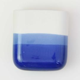Dip wall vase | Short | White 094