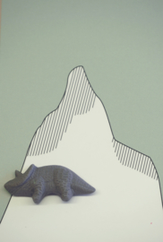 Brooche | Dinosaur | 2 | Dark grey