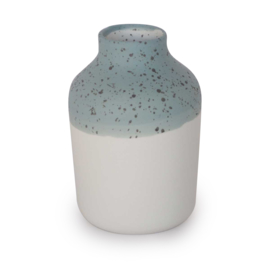 Clay vase | S | Blue | Dots