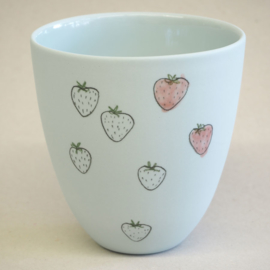 Cup food | Large | Light blue | Strawberry