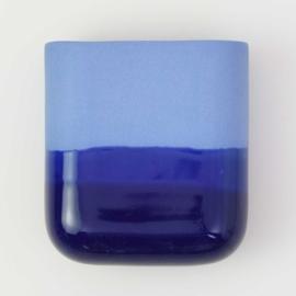 Dip wall vase | Short | Cobalt 094