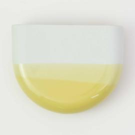 Dip wall vase | Half round | Mint 084