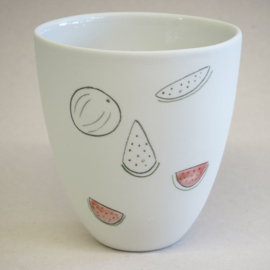 Cup food | Large | White | Watermelon