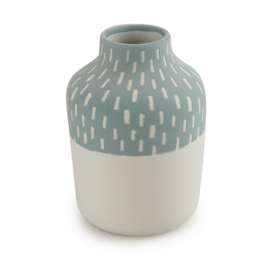 Clay vase | S | Blue | Big stripe