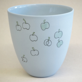 Cup food | Large | Blue | Apple