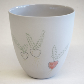 Cup food | Large | Grey | Radish