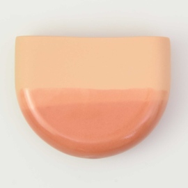 Dip wall vase | Half round | Orange 059