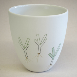 Cup food | Large | White | Leek