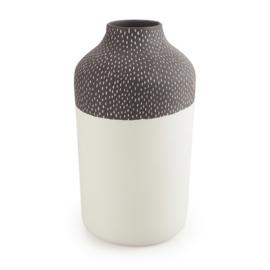 Clay vase | L | Black | Small stripe