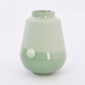 Dip vase   L    Green 071