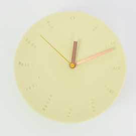 Clock - Large   Yellow