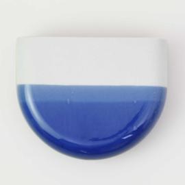Dip wall vase | Half round | White 094