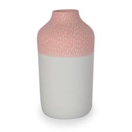 Clay vase | L | Red | Big stripe