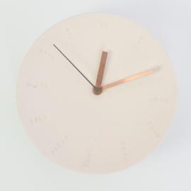 Clock - Large   Pink