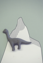 Brooche | Dinosaur | 1 | Dark grey