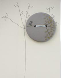 Button | Bird | Dark grey