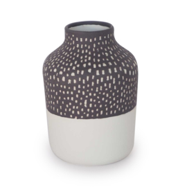 Clay vase | S | Black | Small stripe