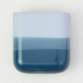 Dip wall vase | Short | Blue 065