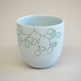 Cup food | Small | Light blue | Grapes