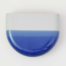 Dip wall vase | Half round | Mouse grey 094