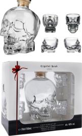 Crystal Head + 4 Glasses
