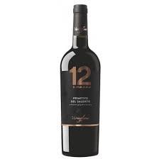 Varvaglione, 12 e Mezzo Primitivo del Salento IGP 0,75 liter (ds 6 fles)