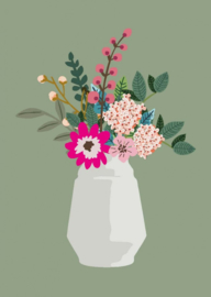 bloemenvaas Joyce (postkaart)