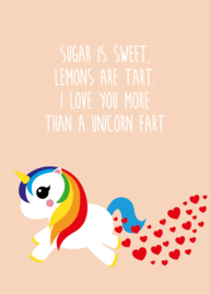 unicorn 'sugar is sweet'