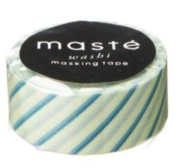 masking tape - mint diagonaal gestreept