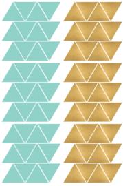 driehoekjes mint goud