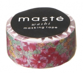 masking tape - rood bloempje