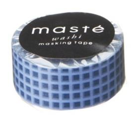 masking tape - blauw geruit