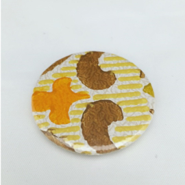magneet retro geel-bruin