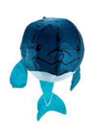 japanese paperballoon - blauwe walvis